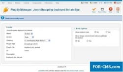 Plug-in of Deployed list attribute for JoomShopping