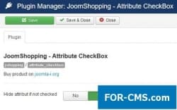 Independent checkbox attribute in JoomShopping