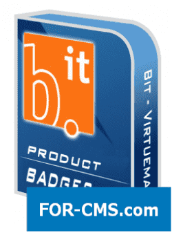 Badges on goods (BIT Virtuemart Product Badges) of vm2 and vm3