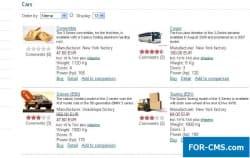 Сравнение товаров для JoomShopping