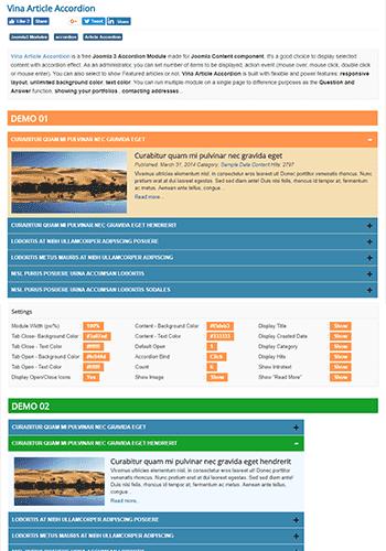Vina Article Accordion v2 0 - модуль для Joomla