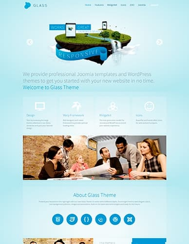 Yoo Glass V102 Warp 648 From Yootheme Business A Template For