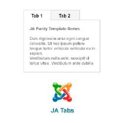 JA Tabs v2.6.7 - plug-in of tabs for Joomla