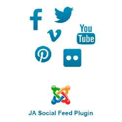 JA Social Feed v1.3.3 - plug-in of parsing of content from social networks for Joomla