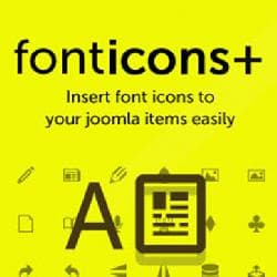 Fonticons Plus v1.0.2 - convenient work with icons in content