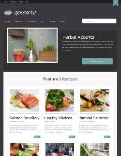JB Epicure v2.2.2 - шаблон блога о еде для Joomla