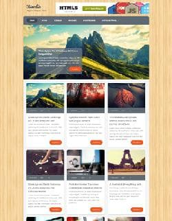 MTS Woodie v1.0 - a template for Wordpress