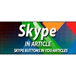 Skype In Article v - addition of the button of Skype in articles