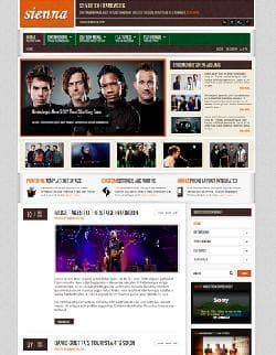 S5 Sienna v1.0 - музыкальный портал для Joomla