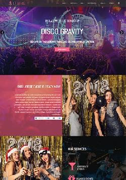 LT Disco v1.0 - премиум шаблон сайта ночного клуба, дискотеки или бара