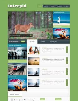 JB Intrepid Business v2.2.0 - шаблон блога для Joomla в зеленых тонах