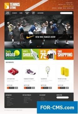 Tennis Store - Шаблон #40535