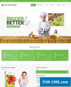 Organic Food - шаблон Joomla