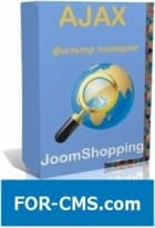 The Ajax module the filter for JoomShopping