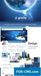 Gravity - шаблон Joomla для школ и образовательных учреждений