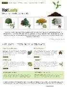 Hot Leafs v1.6 - шаблон сайта о растениях для Joomla