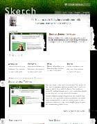 JB Sketch v1.0.9 - Joomla шаблон блога с зеленой травой