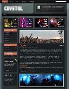YOO Crystal v5.5.14 - шаблон музыкального блога для Joomla