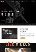 TZ Musika v1.4 - премиум шаблон для сайта музыкальной группы