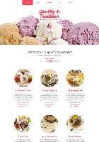Hot Ice Cream v3.1.0 - премиум шаблон для сайтов производителей мороженного