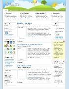 JA Senecio v1.4.0 - шаблон блога для Joomla в стиле 2D