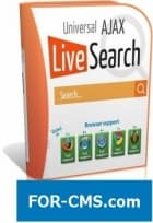 Universal AJAX Live Search v5.4.3 - поиск