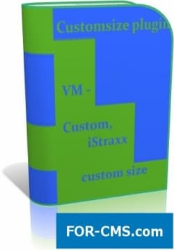 Custom size for Virtuemart 2 and 3 - the choice of the size