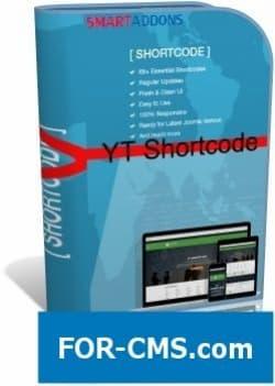 YT Shortcode v3.0.0 - insert of elements in Joomla